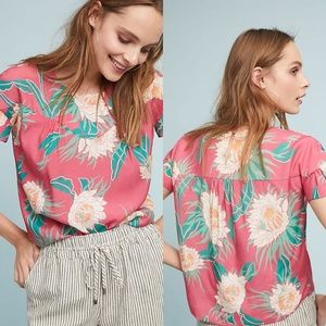 Anthropologie Wolven Protea Printed Top